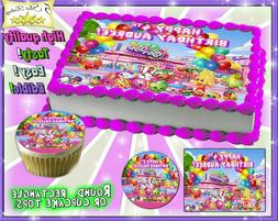 Shopkins Cake or Cupcakes Topper image SHEET picture edible