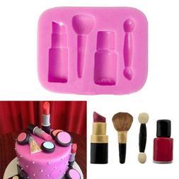 Silicone 3D Makeup Tools Design Mold Cupcake Topper Chocolat