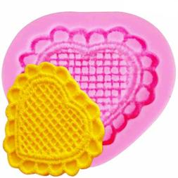 Silicone Mould Love Heart Shape Cake Decor Tools Cupcake Top