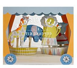 Meri Meri Silly Circus Cupcake Kit Birthday Party Decor Topp