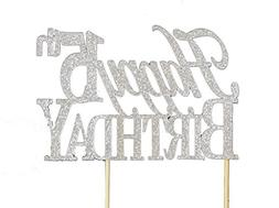 All About Details Silver Happy 15th Birthday Cake Topper