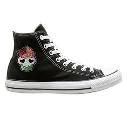 SH-rong Skull Cupcakes High Top Sneakers Canvas Shoes Slip O