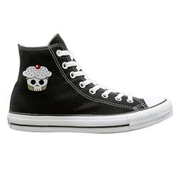SH-rong SKULL Cupcaks High Top Sneakers Canvas Shoes Cool Sp