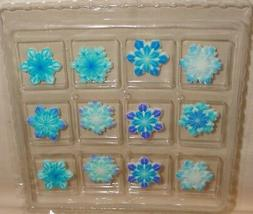 Snowflakes,Blue,Edible Sugar Soft Cupcake Toppers,DecoPac,12