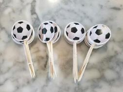 Soccer Futbol Sports Cupcake Toppers Kids Birthday Team Part