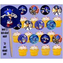 Sonic the Hedgehog Video Game Double-sided Images Cupcake Pi