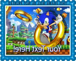 Sonic the Hedgehog - Edible Cake Topper or Cupcake Topper