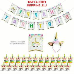 Set of 24 Premium Sparkle Unicorn Cupcake Wrappers, Cute Uni