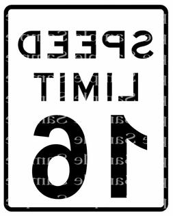 Speed Limit 16th Birthday Sign~ Edible 2D Fondant Cake Cupca