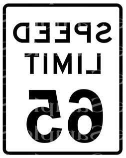 speed limit 65 birthday edible 2d fondant