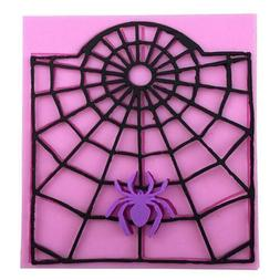 Spider Web Fondant Cake Decorating Tools Silicone Molds Cupc
