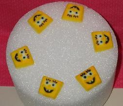 Sponge Bob Edible Cupcake Toppers,DecoPac,Yellow,8 Ct.Molded