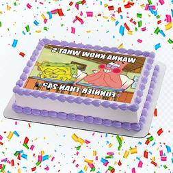 Sponge Bob Edible Icing Image Cake or Cupcake Topper Party D