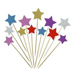 Bilipala Color Star Cake Cupcake Decorations Toppers Appetiz