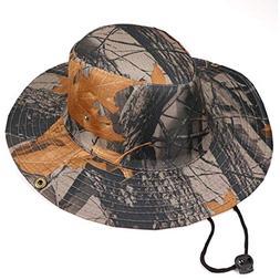 Suma-ma 8 Colors Unisex Bucket Camo Hat - Outdoor Cap Wide B