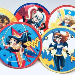super hero girls cupcake toppers birthday party