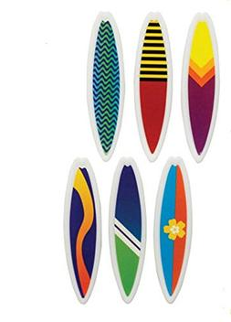 Oasis Supply 12 Count Surfboards Cake and Cupcake Toppers, A