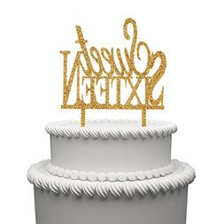 Sweet 16 Cake Topper for 16 Years Birthday Or 16TH Wedding A