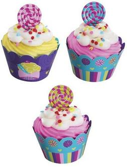 1 X Sweet Candy Cupcake Wraps