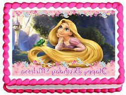 TANGLED Rapunzel Birthday Image Edible Cake topper decoratio