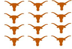 "Texas Longhorns Cupcake Toppers Edible Image 2"" Frosting Cir"