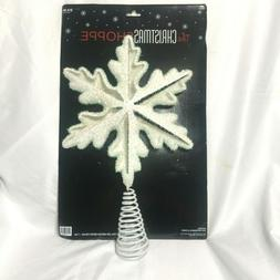 The Christmas Shoppe Star Shape Puffy Snow Tree Topper Off W