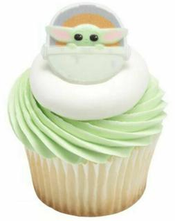 The Mandalorian Yoda Cupcake Toppers Birthday Party Favors R