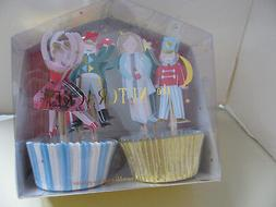 "MERI MERI ""THE NUTCRACKER"" CUPCAKE KIT - 24 CUPS and TOPPERS"