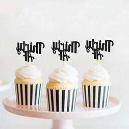 Thirty AF Cupcake Toppers for 30th Birthday 30th Anniversary