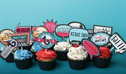 TiKToK Cake Cupcake Toppers set of 15 stickers Tik Tok