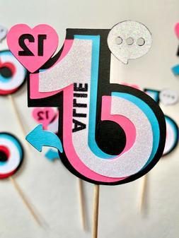 tiktok tik tok personalized cupcake toppers tiktok