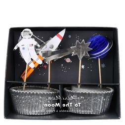Meri Meri 'To The Moon' Space Themed Cupcake Kit