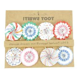 Meri Meri Toot Sweet Pinwheel Cupcake Picks 45-0875 , Set of