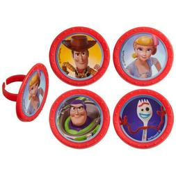 Toy Story 4 Cupcake toppers or rings, all occasion and birth