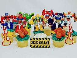 TRANSFORMER Birthday Cupcake Topper Set Featuring RANDOM Tra