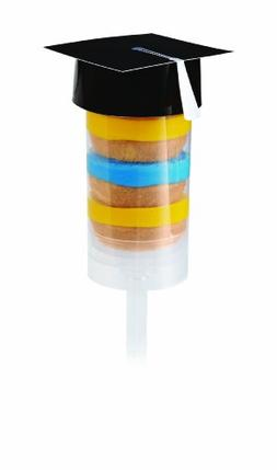 Wilton 2113-0271 6-Pack Treat Pop Toppers, Graduation Cap- D