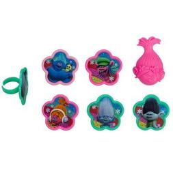 Trolls True Colors Cupcake Rings - 24 Count