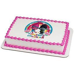 Whimsical Practicality Trolls Licensed Birthday- Edible Ca