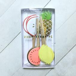 Tropical Fruit Cupcake Toppers Party Picks Designer Pineappl
