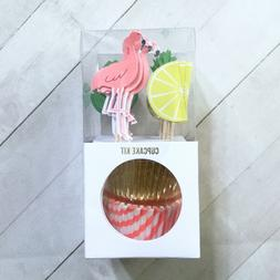 tropical paper bake cups liners and cupcake