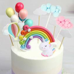 Unicorn Balloons Cake Cupcake Topper Birthday Wedding Party