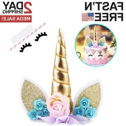 UNICORN CAKE TOPPER Eyelashes Party Cupcake Decoration Birth