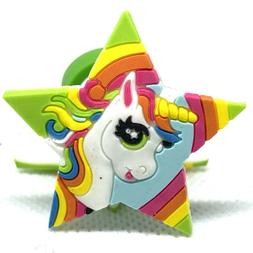 unicorn cupcake toppers cake decorations set of