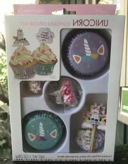 Unicorn Cupcake Toppers Set of 12 Engraved Wood Sticks Theme