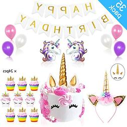 Daisyformals Unicorn Party Supplies Decorations with Unicorn