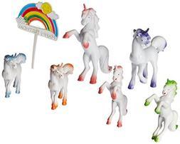 Oasis Supply Unicorn Playset Cake Topper Kit -7 piece set