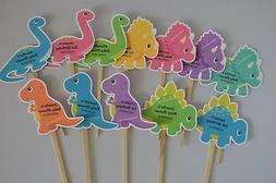 UNIQUE PERSONALIZED DINOSAUR CUPCAKE TOPPERS BIRTHDAY, BABY