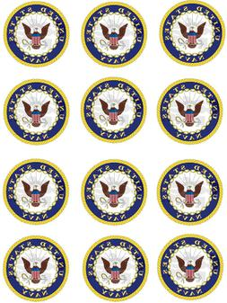 "United States Navy Cupcake Toppers Edible Image 2"" Frosting"