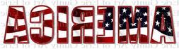 US Flag 4th of July America ~ Frosting Sheet Cake Topper ~ E