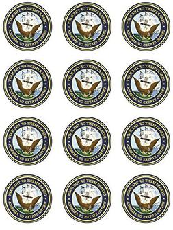 US Navy Edible Cupcake Toppers - Set of 12